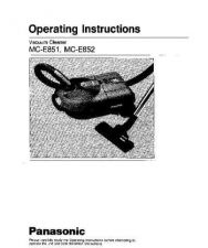 Buy Panasonic MCE851 E852 Operating Instruction Book by download Mauritron #236133