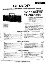 Buy Sharp GXCD60H-CPCD60 -DE-FR Service Manual by download Mauritron #209699