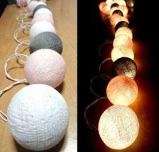 Buy LIGHT SWEET TONE 20 COTTON BALLS STRING LIGHTS HOME WEDDING PARTY GARDEN DÉCOR
