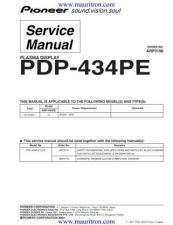 Buy Pioneer PDP-434PE (2) Service Manual by download Mauritron #234949
