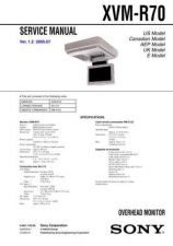 Buy Sony XVM-R70 Service Manual. by download Mauritron #246484