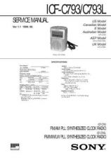 Buy Sony ICF-C793-C793L Service Manual. by download Mauritron #241574