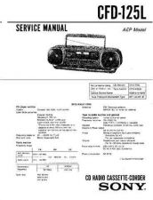 Buy Sony CFD-125 Manual by download Mauritron #229039