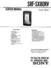 Buy Sony SRF-SX80RV Service Manual by download Mauritron #233150