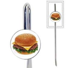 Buy Bookmark Cheeseburger Burger Fast Food Metal Book mark