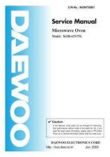 Buy Daewoo R63N75S001(r) Manual by download Mauritron #226505