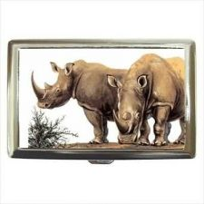 Buy Rhinoceros Rhinos Cigarette Money Credit Business Card Case Wallet