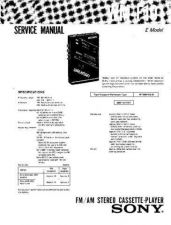 Buy Sony WM-F101 Service Manual. by download Mauritron #245695