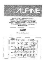 Buy ALPINE 3402 OPERATING Manual by download Mauritron #229472