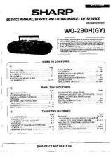 Buy Sharp. WQ290H_SM_GB-DE-FR Service Manual by download Mauritron #211779