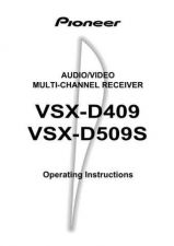 Buy Pioneer 49512 Operating instructions VSX-D409 20023151517309470 Manual by downl