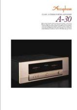 Buy ACCUPHASE A-30 Manual by download Mauritron #229444