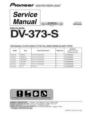 Buy Pioneer DV-373-K-1 Service Manual by download Mauritron #234227