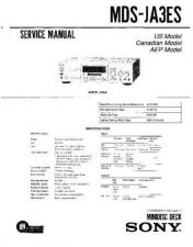 Buy Sony MDS-JA3ES Service Manual. by download Mauritron #242670