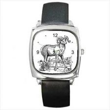 Buy Mountain Goat Vintage Art Unisex Square Wrist Watch