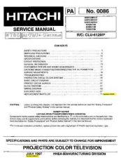 Buy Hitachi 65XWX20B Service Manual by download Mauritron #263292