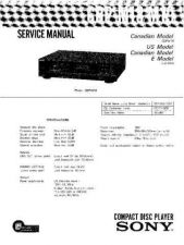Buy Sony CDP-M18-M19 Service Manual by download Mauritron #231678