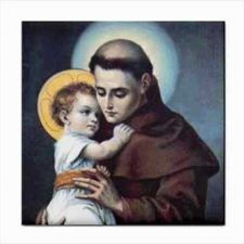 Buy Saint St Anthony Of Padua Catholic Art Ceramic Tile