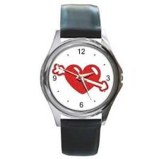 Buy Cupid's Heart Arrow Unisex Round Wrist Watch