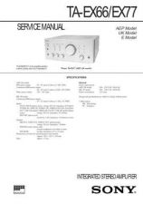 Buy Sony TA-EX77 Service Manual. by download Mauritron #245262