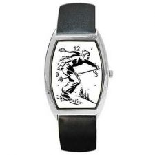 Buy Downhill Skiing Man Ski Retro Art New Wrist Watch