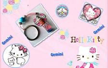 Buy Personalized Hello Kitty Zodiac name on rice necklace phone charm unique Gift