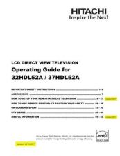 Buy Hitachi 37HDL52 Service Manual CDC-2080 by download Mauritron #262637