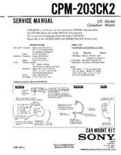 Buy Sony CPM-203CK2 Service Manual by download Mauritron #239326
