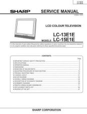Buy Sharp LC13-15S1H (1) Service Manual by download Mauritron #209792