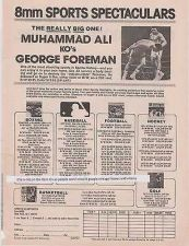 Buy 1975 boxing muhammad ali george foreman 8mm sports spectacular magazine ad