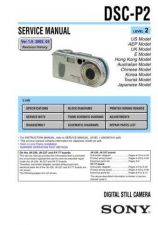 Buy Sony DSC-P3. (6) Service Manual by download Mauritron #240229