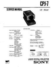 Buy Sony CPJ-7 Manual-1663 by download Mauritron #228411