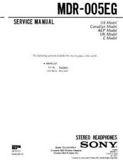 Buy Sony MDR-005EL Service Manual. by download Mauritron #242461