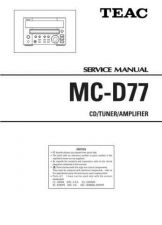 Buy Teac MC-D77 Service Manual by download Mauritron #223774