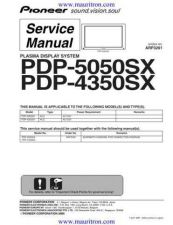 Buy Pioneer PDP-434PU (3) Service Manual by download Mauritron #234987