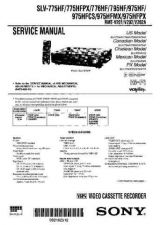 Buy Sony SLV-775-776-795-975 Technical Manual. by download Mauritron #243918