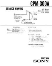 Buy Sony CPM-300A Service Manual by download Mauritron #239328
