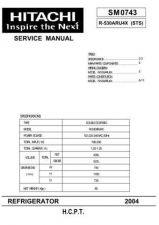 Buy Hitachi R-530ARU4X Service Manual by download Mauritron #263953