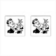 Buy Magician Rabbit Hat Trick Square Cuff Links Cufflinks