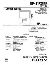 Buy Sony KP-41EXR96] Manual by download Mauritron #229328