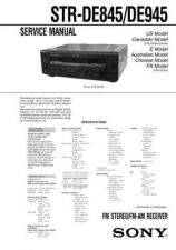 Buy Sony STR-DE925-V919 Service Manual. by download Mauritron #245134