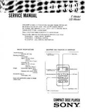 Buy Sony CDX-A30RF Service Manual by download Mauritron #231715