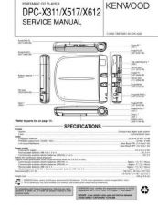 Buy KENWOOD DPC-X311 517 612 Technical Information by download #118572