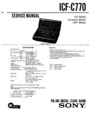 Buy Sony icf-c770 Service Manual. by download Mauritron #241571