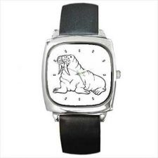 Buy Walrus Black and White Unisex Square Wrist Watch New