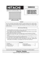 Buy Hitachi CMP4120HDJ Service Manual by download Mauritron #260746