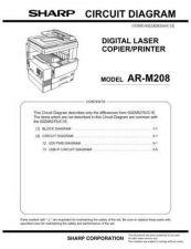 Buy Sharp SHARP AR-M208 CIRCUIT DIAGRAM Service Manual by download Mauritron #21064