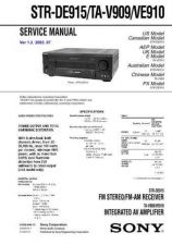 Buy Sony STR-GX99ES Service Manual. by download Mauritron #245147