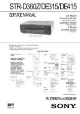 Buy Sony STR-D760ZDE815G Service Information by download Mauritron #238154