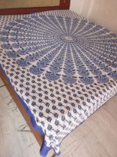 Buy new Indian hand made block print pure cotton fabric bed sheet cotton bed spared